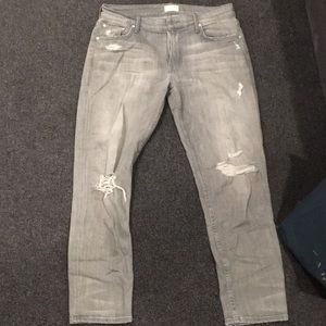 Mother jeans lightly worn grey